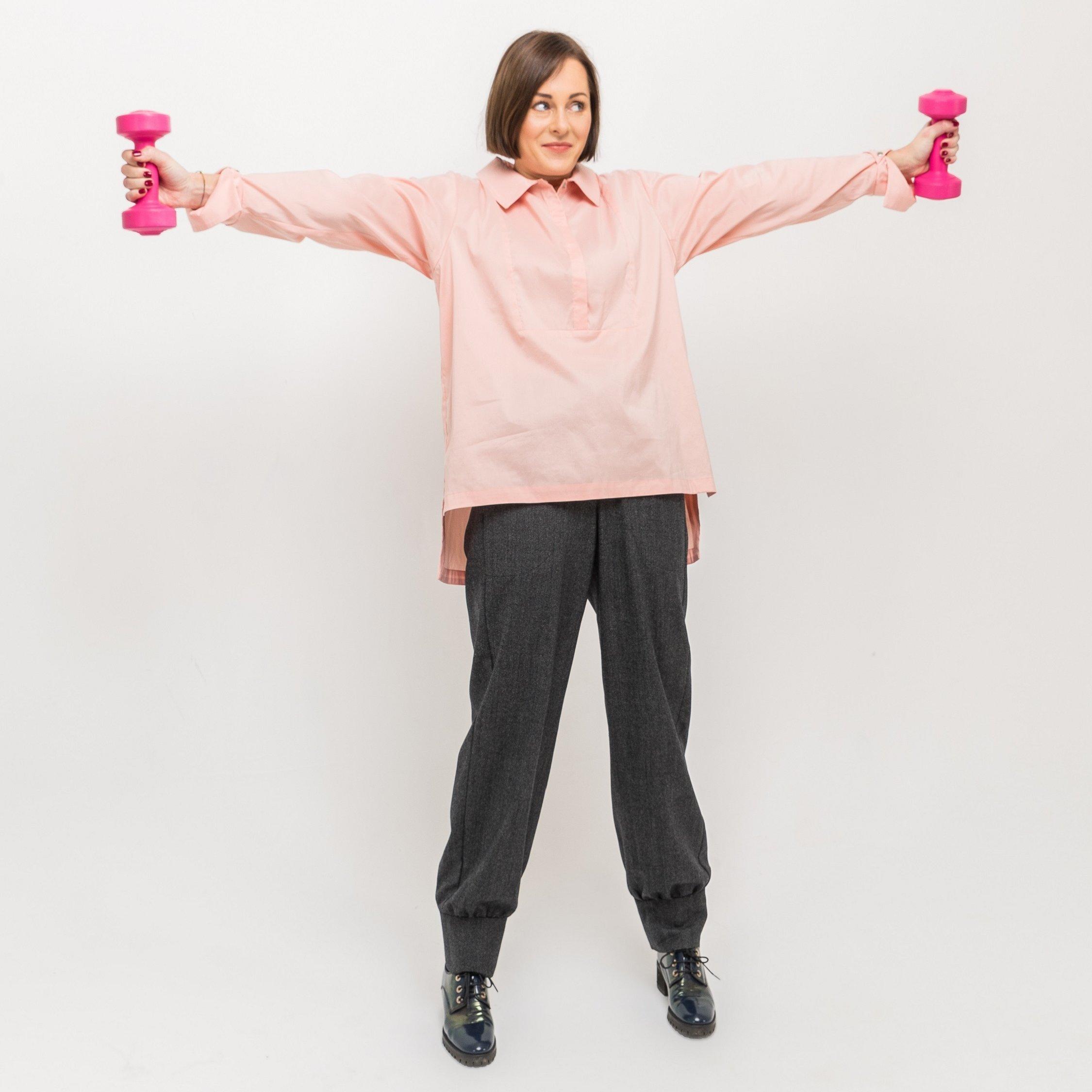 Блуза розовая 00003