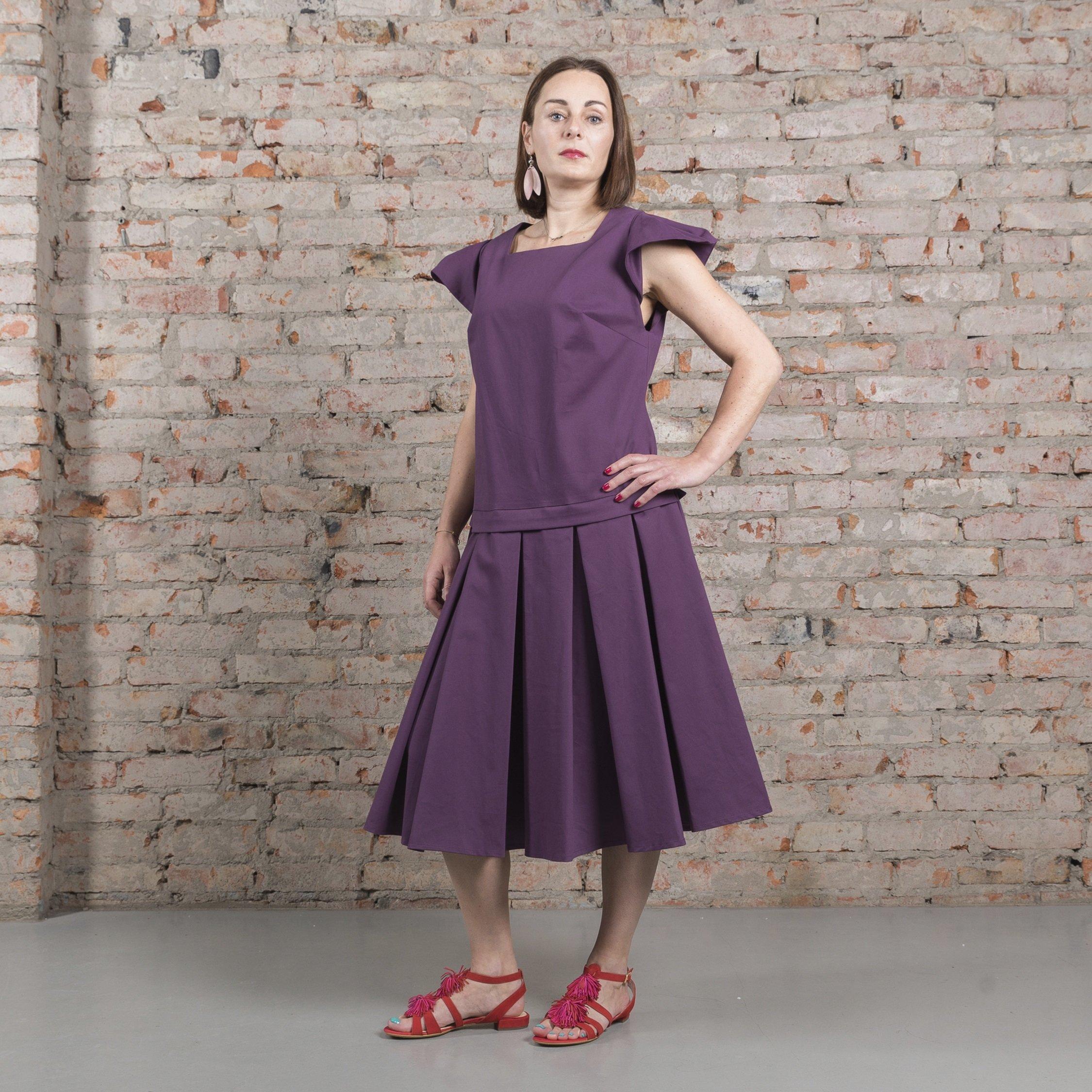 Платье фиолетовое 00019