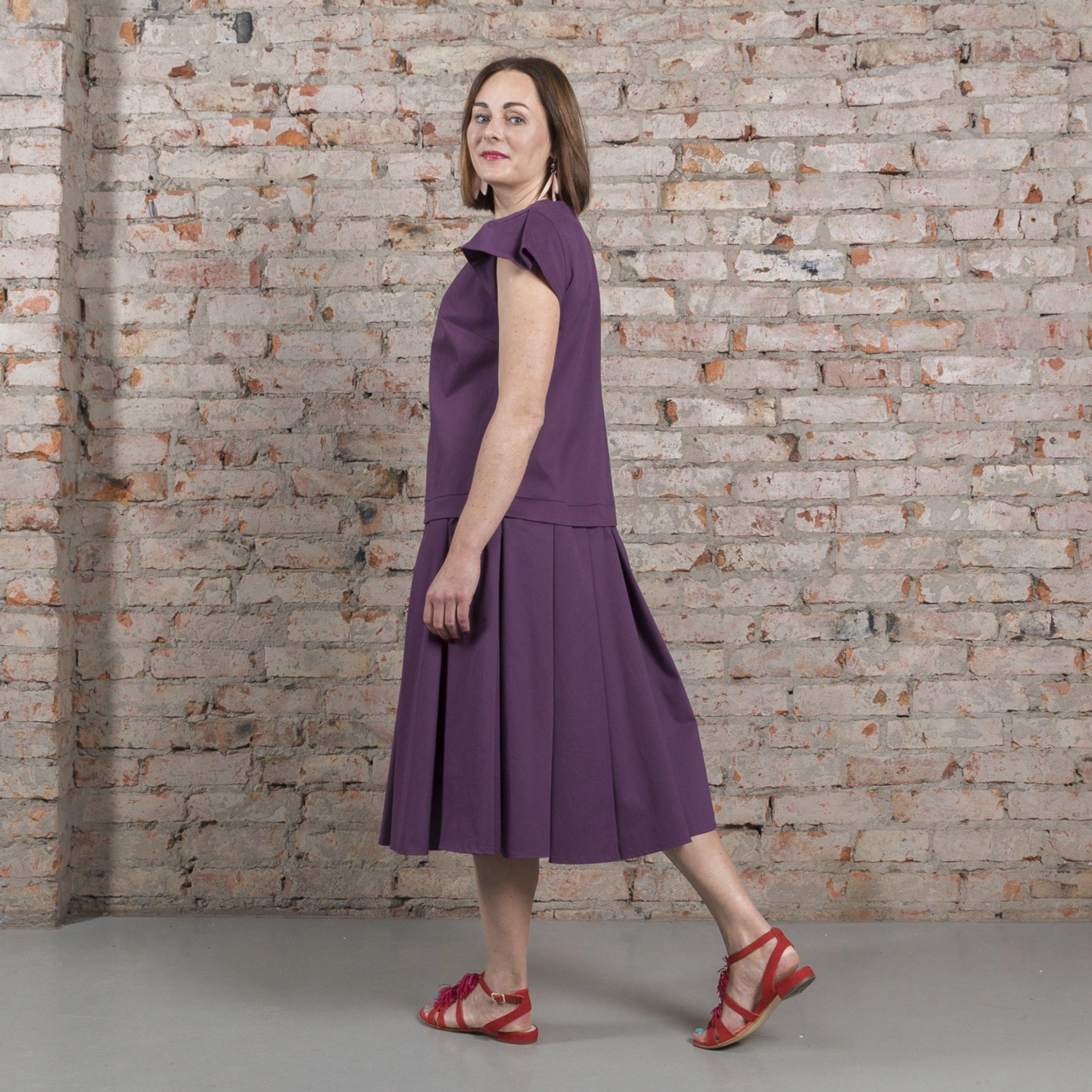 Платье фиолетовое