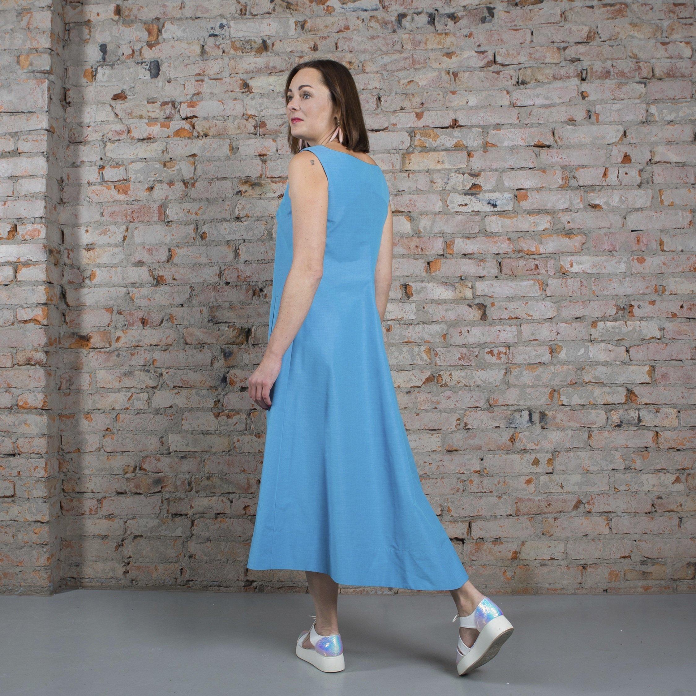 Платье голубое 00020