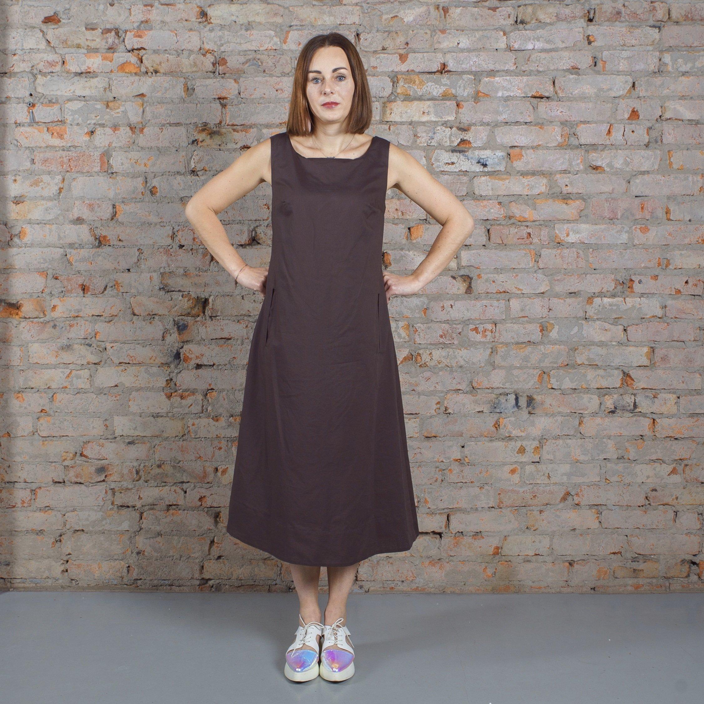 Платье графитовое 00023