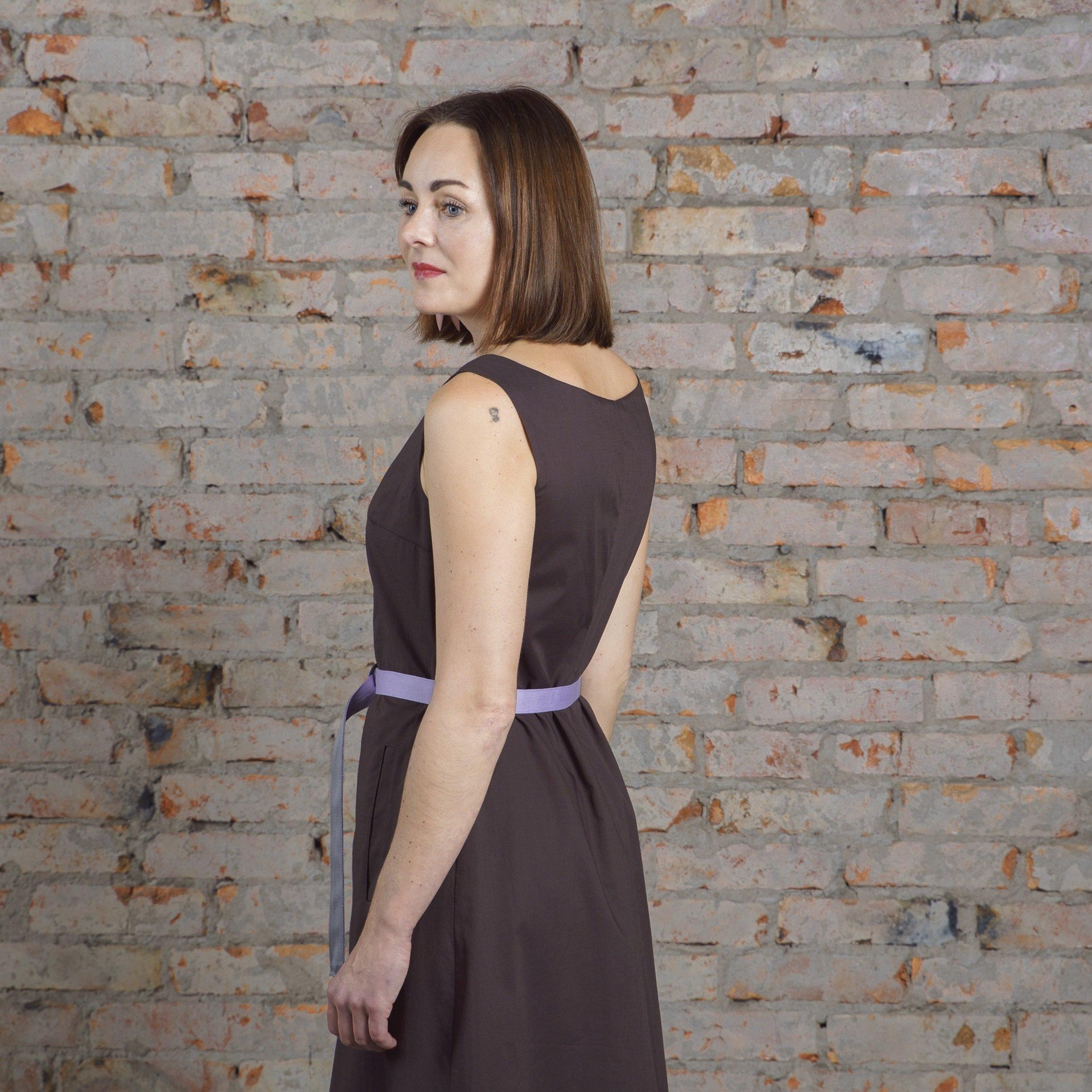 Платье графитовое