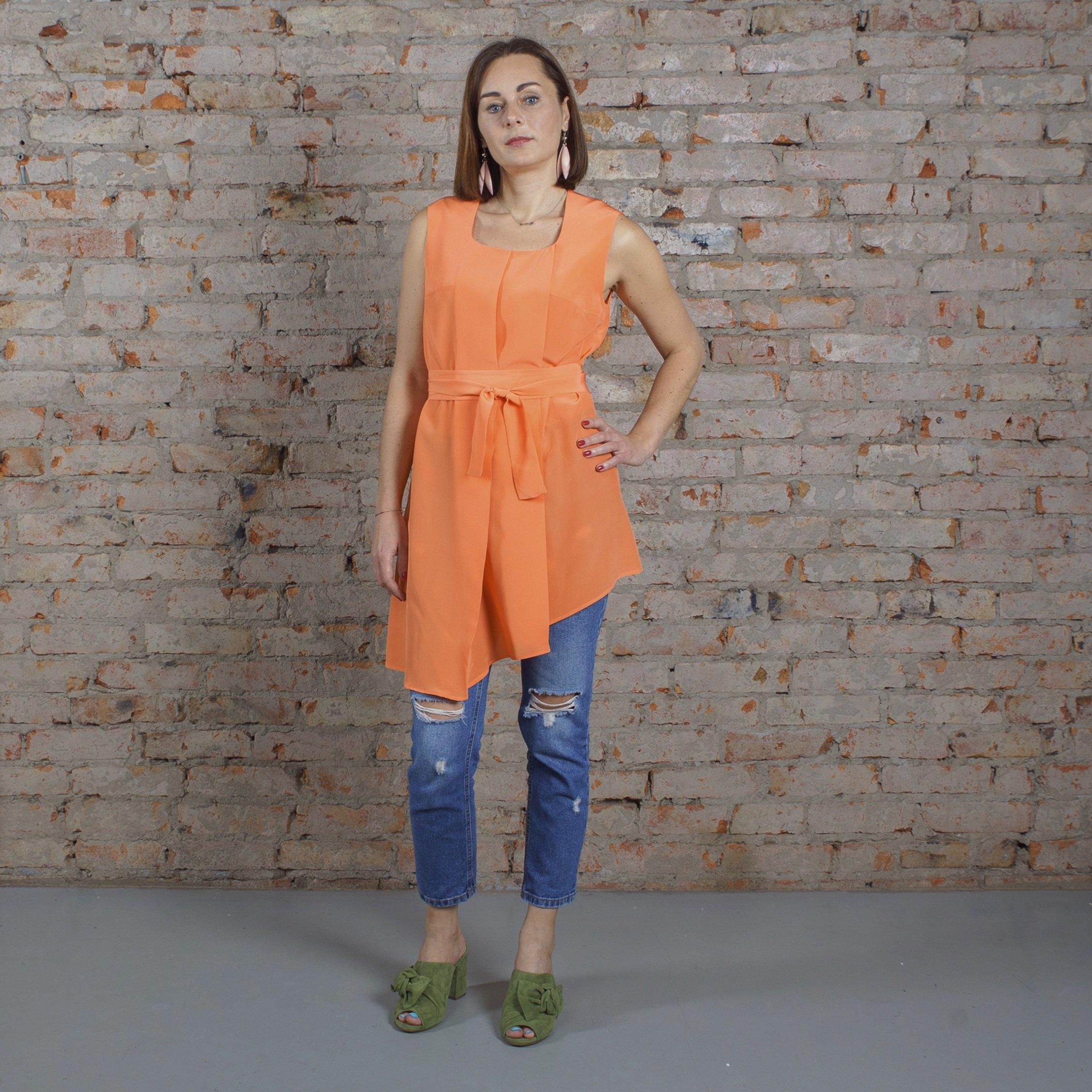 Блуза оранжевая 00026