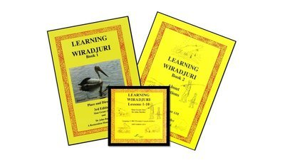 Learning Wiradjuri book 1 and 2 with CD recording.