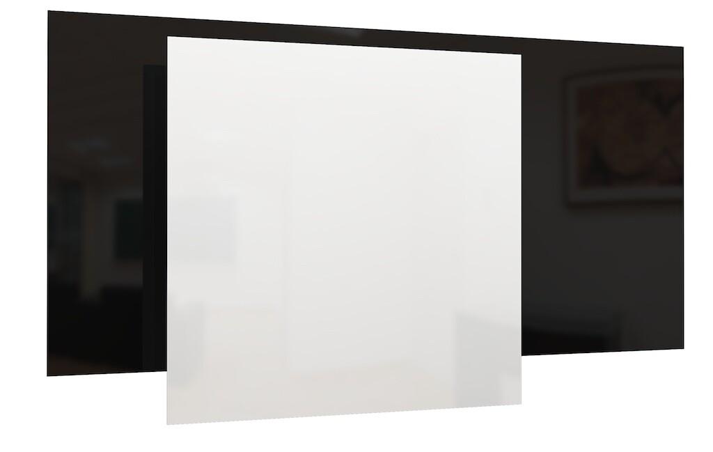 Panel radiante GS de vidrio - Blanco/Negro