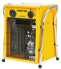Generador eléctrico de aire caliente. Calefactor portátil MASTER B.
