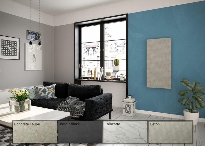 Panel radiante moderno de piedra. Calefacción Inteligente.