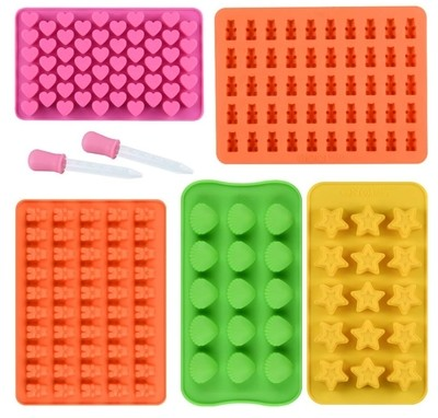 Gummy Silicone Molds and Droppers