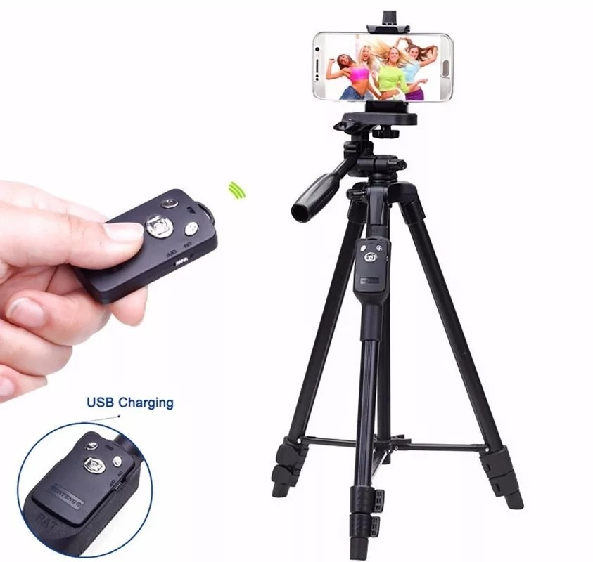 Yunteng 5208 Bluetooth Remote Mobile Phone Tripod Holder for Smartphones