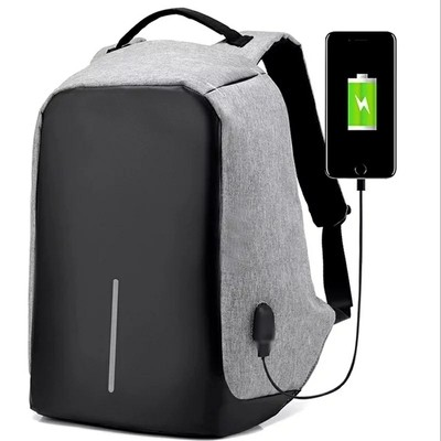 Anti-Theft Laptop Backpack Travelbag with USB port (Unisex bag) + Free Powerbank