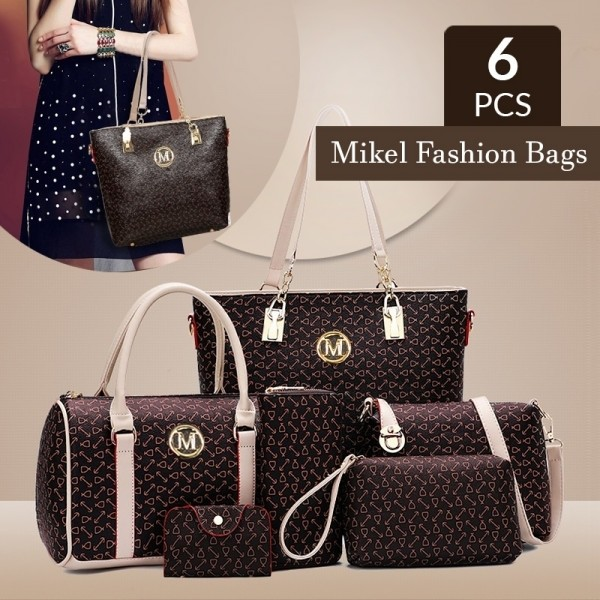 Mikel Fashion Handbags 6 Pieces Set