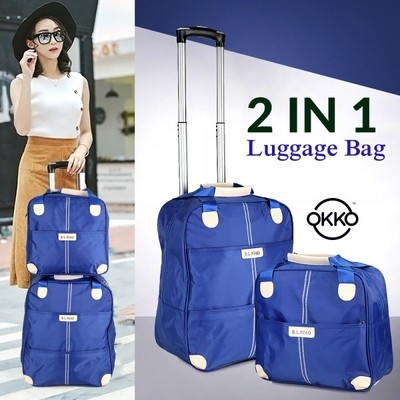 OKKO 2 in 1 Luggage Bag - Blue