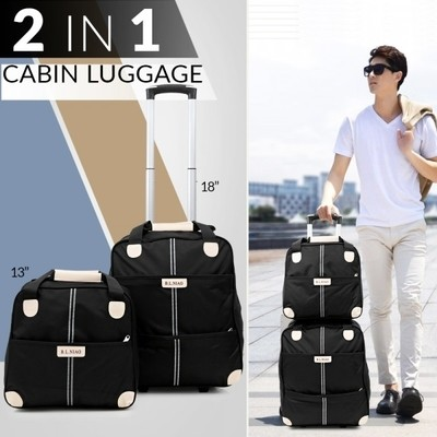 OKKO 2 in 1 Luggage Bag - Black