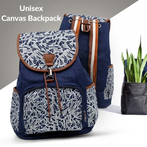 Bling Geometry Unisex Canvas Backpack - Glazing-85 GH-193