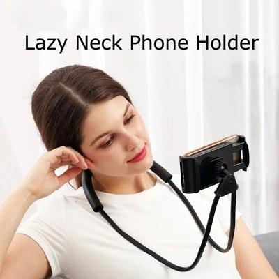 Lazy Hang Neck Phone Support Holder, Multi-function Creative Mobile Phone Holder Desktop Bed Car Lazy Bracket Mobile Stand