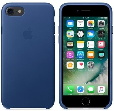 Leather Case for Apple iPhone 7 - Midnight Blue