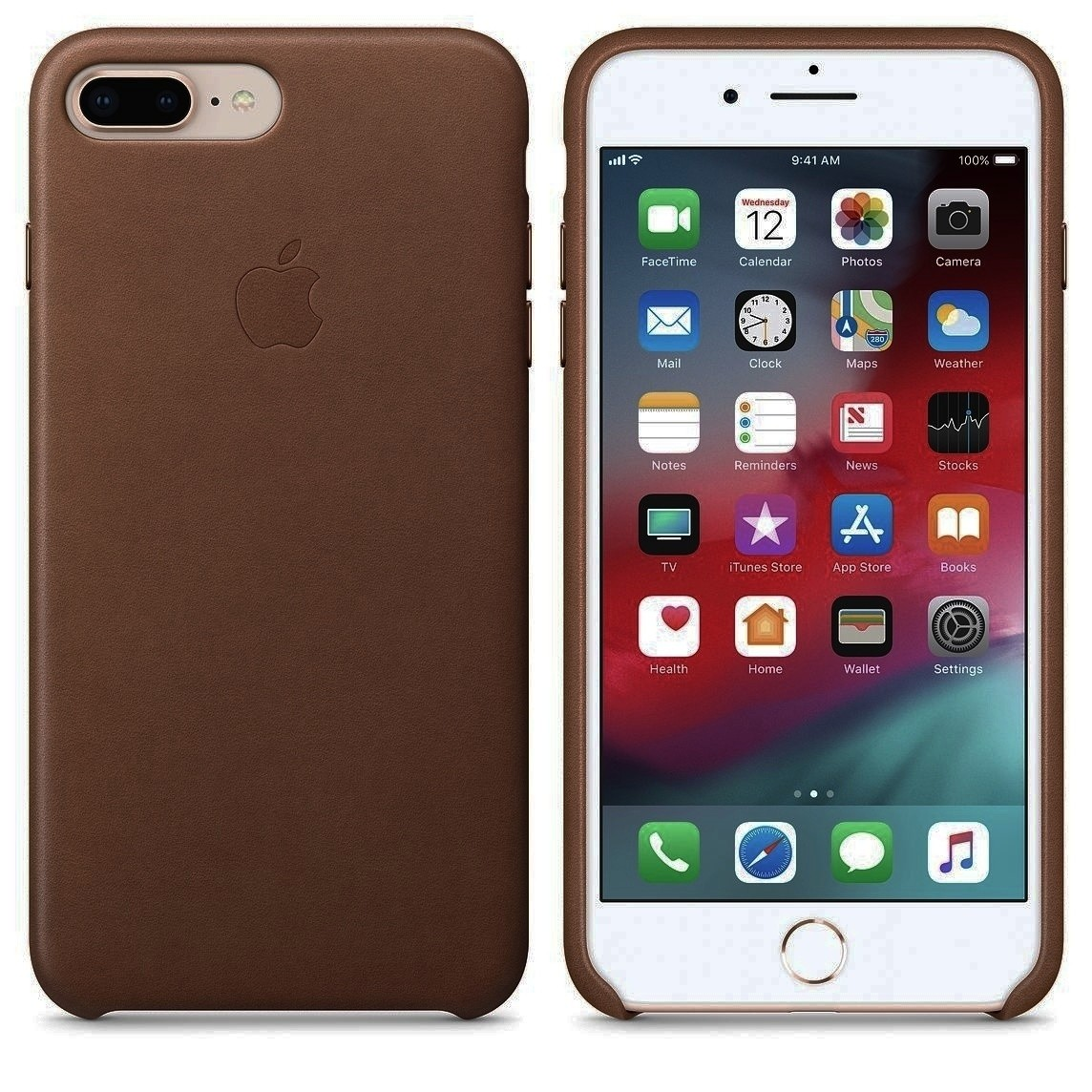 Leather Case for Apple iPhone 7 Plus - Coffee