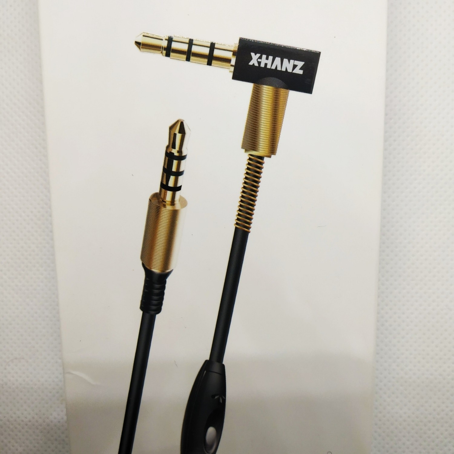 X-HANZ 3.5 AUX Audio Cable with mic for talk for mobile phone (1.2m length)