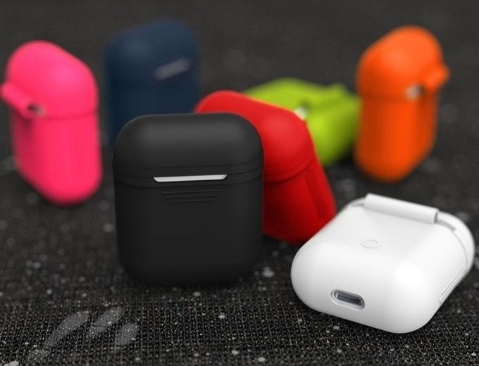 AirPods Silicone Case Protective Cover Skin Accessories For Apple Airpods Charging Case