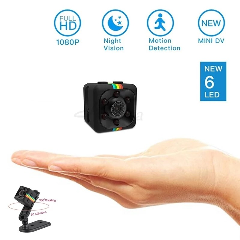 Mini Camera SQ11 HD 1080P Camcorder Sports Mini DV Video Recorder Spy Cameras with Night Vision & Motion Detection Security Camera