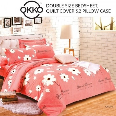 Double Size Bedsheet,Quilt Cover and pillow case Set of 4 Pieces GH-275