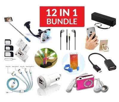 12 in 1 Complete Accessories Bundle kit BDA-121 Assorted