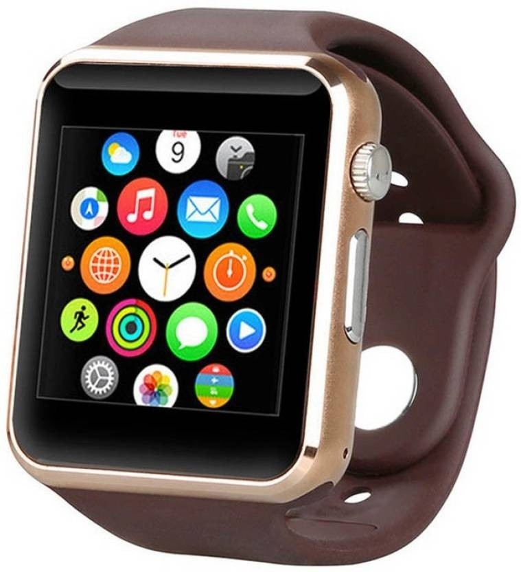 A1 Smart Watch Silicone Band For Android, Brown