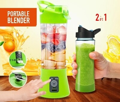 2 in 1 Portable Rechargeable Juice Blender with Mobile Powerbank