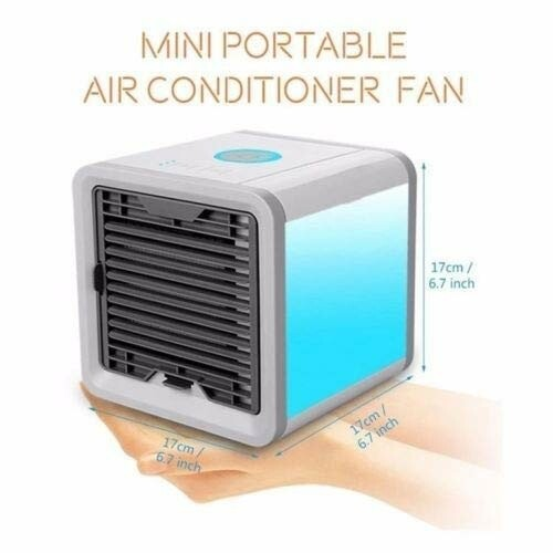 PORTABLE MINI COOLER FAN AIR CONDITIONER 3 IN 1 PERSONAL DESKTOP TRAVEL OFFICE