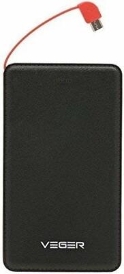 Veger 15000mAh Safe/Efficient/Fashion Power Bank for Smart Phones - V58-Black color