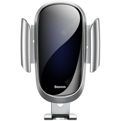 Baseus SUYL - WL01 Gravity Reaction Air Vent Mount Mobile Phone Holder - Silver