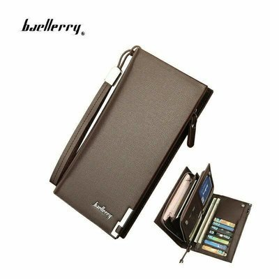 Top quality Baellerry long Leather wallet for Men and Women