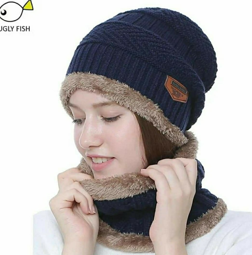 Super quality Winter with Neck Warmer Set (Skullies & Beanies) For Men and Women