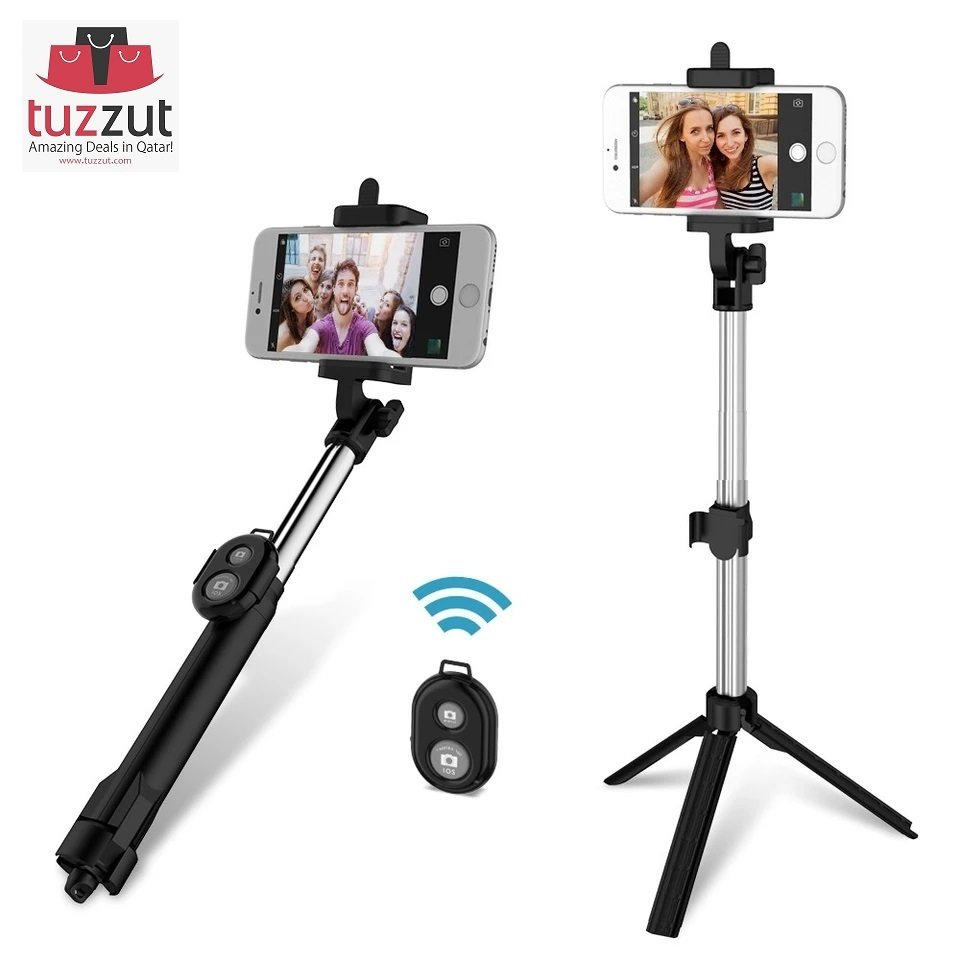 3 in 1 Bluetooth Selfie Stick Tripod Mobile Phone Holder
