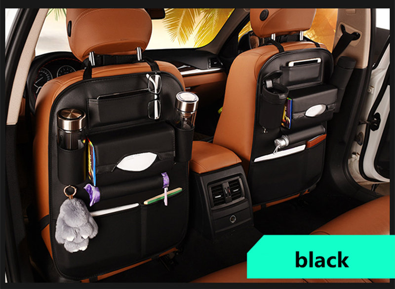 Convenient Car Seat Back Organizer Multi-Pocket Storage Bag Box Case (2 pc set)