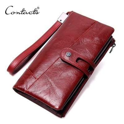 Genuine Leather Ladies Clutch Purse Cards Wallet with Cell Phone Pocket​​ -C2139