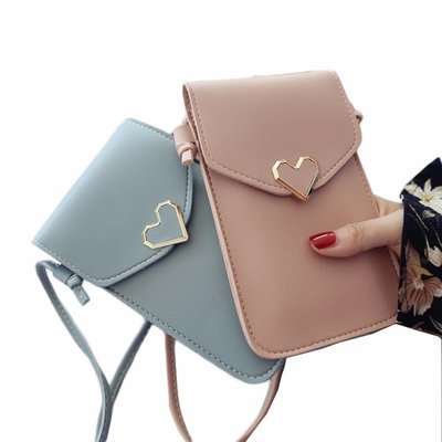 Women's Vintage Buckle PU Leather Casual Phone Bag Purse Crossbody Bag