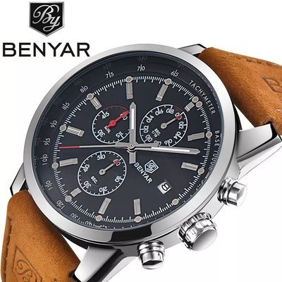 BENYAR Luxury Fashion Chronograph Sport Men's Quartz Watch -BY-5102
