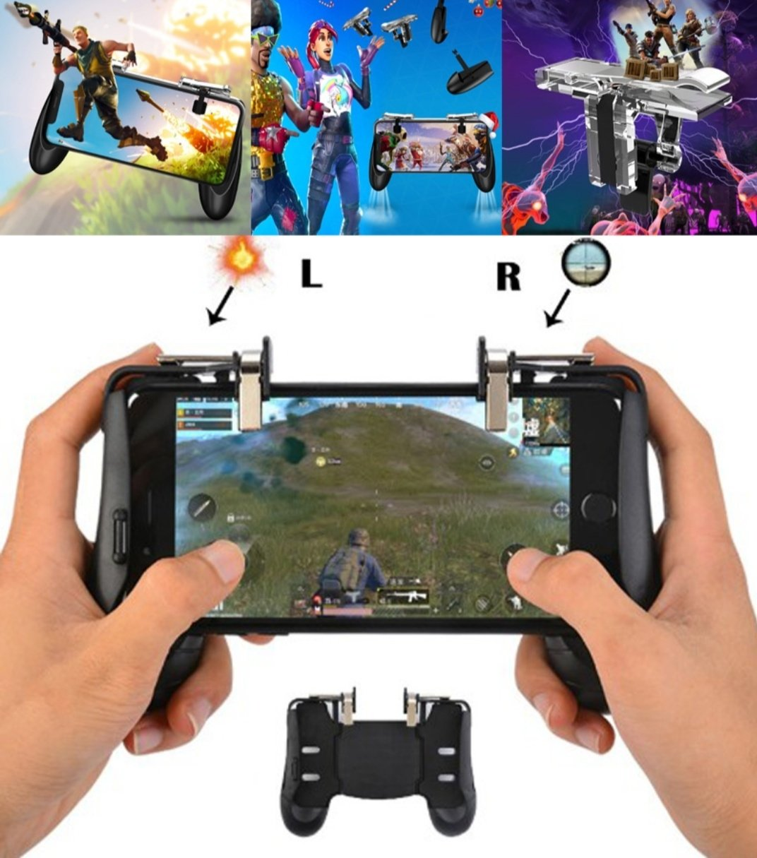 Pubg Game Gamepad For Mobile Phone Trigger Fire Aim Key Shooter Fire Button -🎮 LHX-A03