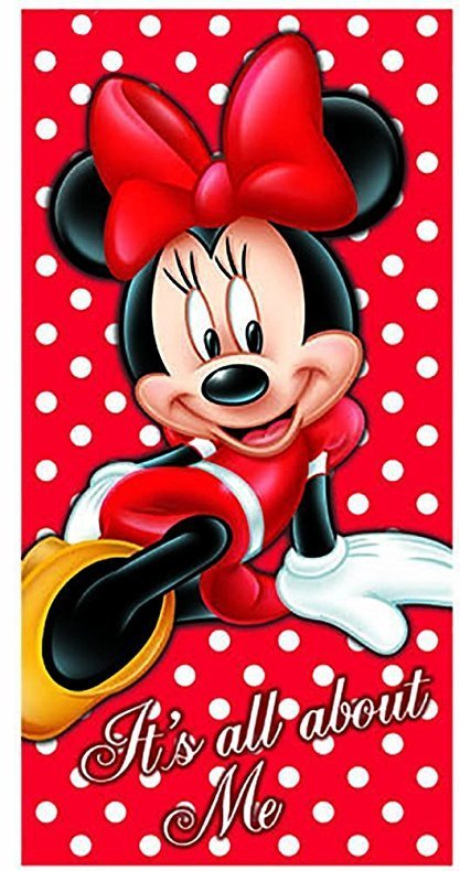 """DISNEY'S """"IT'S ALL ABOUT MINNIE MOUSE"""" BEACH TOWEL"""