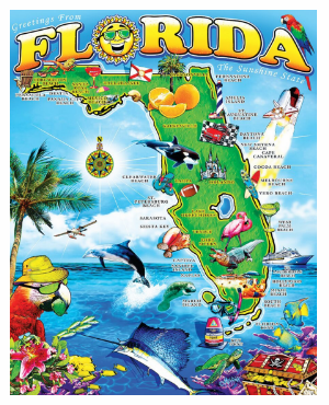 FL MAP BEACH BLANKET