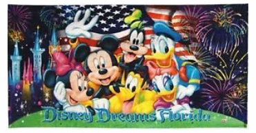 DISNEY DREAMS CELEBRATIONS BEACH TOWEL