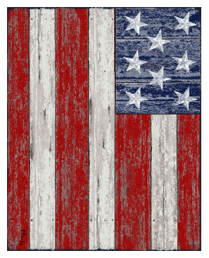 Oversized Rustic Style Patriotic American Flag 54x68 Cotton Velour Beach Towel Blanket