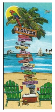 FLORIDA SIGN POST BEACH TOWEL