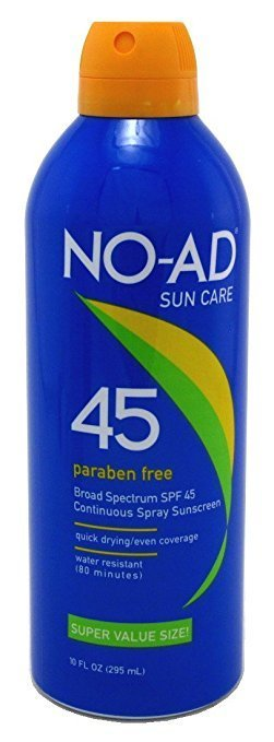 NO AD SUN CARE CONTINUOUS SPRAY SPF 45