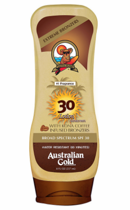 AUSTRALIAN GOLD SUNSCREEN LOTION WITH BRONZER  SPF 30