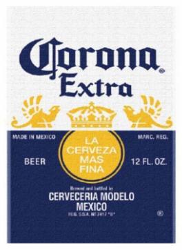 """CORONA EXTRA BEACH BLANKET 54""""*68"""""""