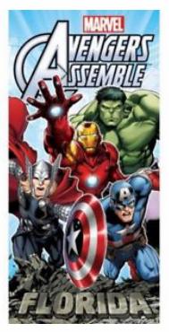Marvel Avengers Assemble Beach Towel