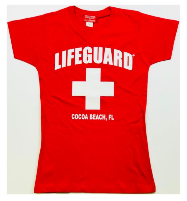 """Lifeguard """" Cocoa Beach """" T-Shirt ( Women )"""