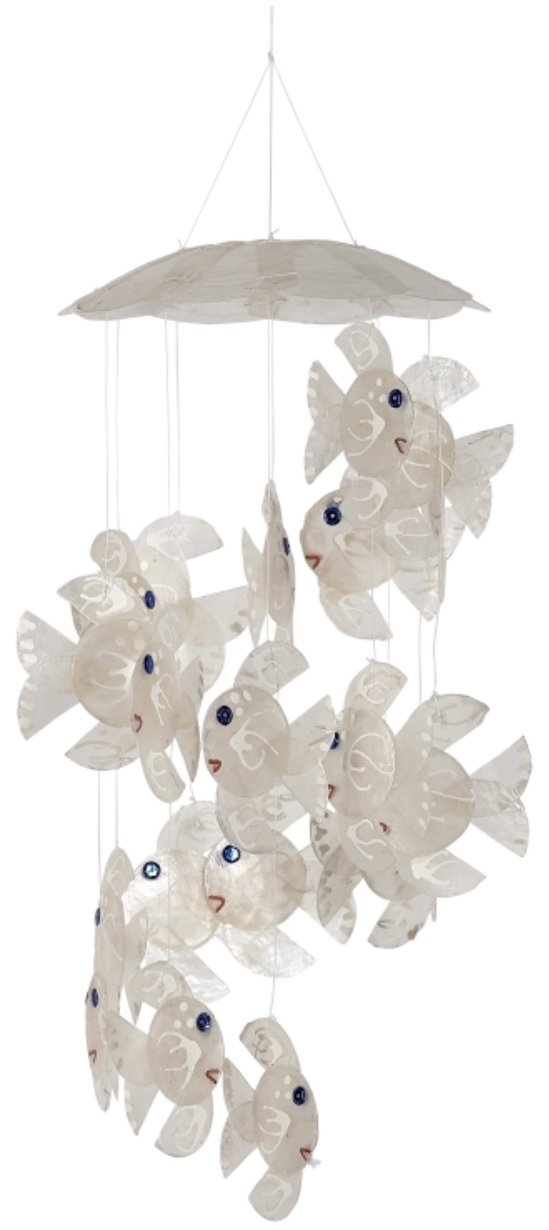 Wind Chime White Fish 6 X 13